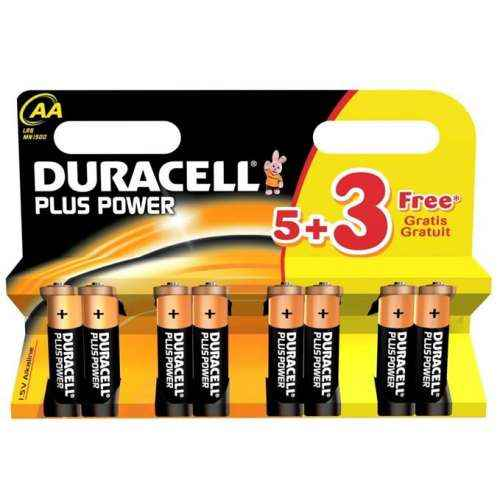 Image of   Duracell Plus Power AA-batterier – 8 stk