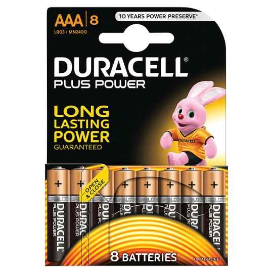 Image of   Duracell Plus Power AAA-batterier – 8 stk